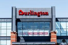 Indianapolis - Circa May 2018: Burlington Coat Factory Strip Mall Location. Burlington is an American off price retailer I Royalty Free Stock Photos