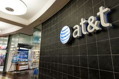 Indianapolis - Circa May 2018: AT&T Mobility Wireless Retail Store. AT&T now offers IPTV, VoIP, Cell Phones and DirecTV Stock Image