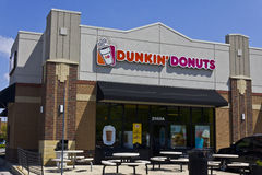 Indianapolis - Circa May 2016: Dunkin' Donuts Retail Location I. Indianapolis - Circa May 2016: Dunkin' Donuts Retail Location. Dunkin' is America's favorite Stock Photos