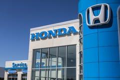 Indianapolis - Circa May 2017: Honda Motor Co. Logo and Sign. Honda Manufactures Among the Most Reliable Cars in the World VI. Honda Motor Co. Logo and Sign royalty free stock images