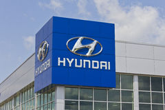 Indianapolis - Circa May 2016: Hyundai Motor Company Dealership I Royalty Free Stock Image