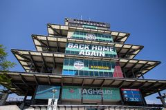 The Pagoda at Indianapolis Motor Speedway. IMS Prepares for the Indy 500 X. Indianapolis - Circa May 2019: The Pagoda at Indianapolis Motor Speedway. IMS royalty free stock image