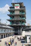 The Pagoda at Indianapolis Motor Speedway. IMS Prepares for the Indy 500 XI. Indianapolis - Circa May 2019: The Pagoda at Indianapolis Motor Speedway. IMS stock images