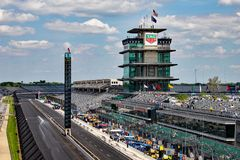 The Pagoda at Indianapolis Motor Speedway. IMS Prepares for the Indy 500 XII stock photo