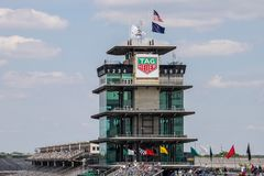 The Pagoda at Indianapolis Motor Speedway. IMS Prepares for the Indy 500 XIII stock image