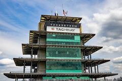 The Pagoda at Indianapolis Motor Speedway. IMS Prepares for the Indy 500 XIV. Indianapolis - Circa May 2019: The Pagoda at Indianapolis Motor Speedway. IMS stock images