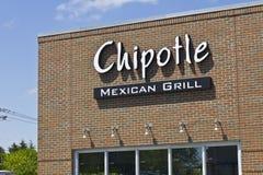 Indianapolis - circa mayo de 2016: Restaurante mexicano VIII de la parrilla del Chipotle Fotografía de archivo libre de regalías