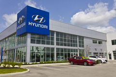 Indianapolis - Circa Mei 2016: Hyundai Motor Company-het Handel drijven III royalty-vrije stock foto