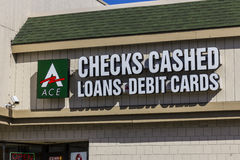 Indianapolis - Circa November 2016: ACE Cash Express Consumer Location. ACE Cash Express is a payday loan company I Royalty Free Stock Photos