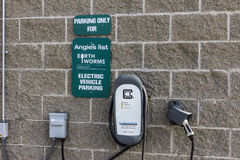 Indianapolis - Circa November 2016: Angie`s List Corporate Office and Headquarters Offers Electric Vehicle Charging VII Royalty Free Stock Image