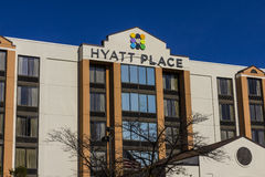 Indianapolis - Circa November 2016: Hyatt Place Business Hotel. Hyatt properties include hotels and vacation resorts II Royalty Free Stock Image