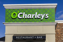 Indianapolis - Circa November 2016: O`Charley`s Casual Dining Restaurant. O`Charley`s is part of American Blue Ribbon Holdings I Royalty Free Stock Images