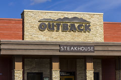 Indianapolis - Circa November 2016: Outback Steakhouse Restaurant Location. Outback offers an Australian themed experience IV Stock Photos