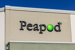 Indianapolis - Circa November 2016: Peapod Grocery Delivery Service and Online Grocery Ordering Warehouse I Royalty Free Stock Image