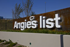 INDIANAPOLIS - CIRCA OCTOBER 2015: Angie's List Corporate Office and Headquarters I. INDIANAPOLIS - CIRCA OCTOBER 2015: Angie's List Corporate Office and royalty free stock photography