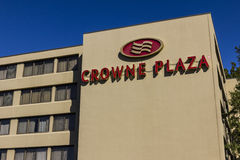 Indianapolis - Circa October 2016: Crowne Plaza Airport Hotel Location. Crowne Plaza is part of InterContinental Hotels Group II Stock Photography