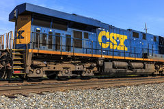 Indianapolis - Circa October 2016: CSX Locomotive Train. CSX operates a Class I railroad in the US II Stock Images