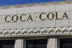 Indianapolis - Circa October 2016: The former Coca-Cola bottling plant with art deco features. The Coke plant opened in 1931 VII Royalty Free Stock Photography