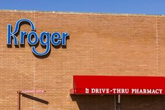 Indianapolis - Circa October 2017: Kroger Supermarket. The Kroger Co. is One of the World`s Largest Grocery Retailers VI. Kroger Supermarket. The Kroger Co. is Royalty Free Stock Photos