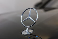 Indianapolis - Circa October 2016: Mercedes Benz Standing Star Hood Ornament. The origins of the three-point star date to 1909 IV Royalty Free Stock Image