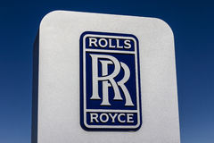 Indianapolis - Circa October 2016: Rolls-Royce LibertyWorks Logo and Signage. Rolls-Royce is a Global Company VI Stock Photos