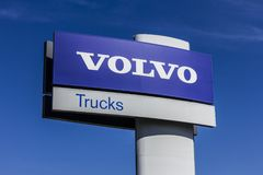 Indianapolis - Circa October 2017: Volvo Trucks Signage and Logo. Volvo Trucks is one of the largest truck brands in the world I stock photography
