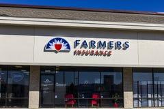 Indianapolis - circa ottobre 2016: Agente Location del gruppo di assicurazione degli agricoltori Gli agricoltori fornisce a casa, Immagini Stock Libere da Diritti