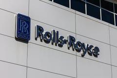 Indianapolis - circa ottobre 2016: Centro di formazione regionale del cliente di Rolls-Royce Corporation Rolls Royce è una societ Fotografia Stock