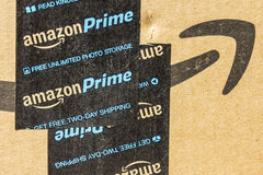 Indianapolis - Circa September 2016: Amazon Prime Parcel Package. Amazon.com is a premier online retailer II. Amazon Prime Parcel Package. Amazon.com is a stock photo