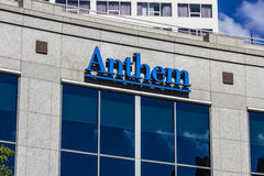 Indianapolis - Circa September 2016: Anthem World Headquarters. Anthem is a Trusted Health Insurance Plan Provider IX. Anthem World Headquarters. Anthem is a stock photo