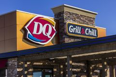 Indianapolis - Circa September 2017: Dairy Queen Retail Fast Food Location. DQ is a Subsidiary of Berkshire Hathaway IX Royalty Free Stock Images