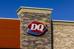 Indianapolis - Circa September 2017: Dairy Queen Retail Fast Food Location. DQ is a Subsidiary of Berkshire Hathaway VIII Stock Images