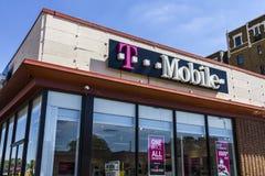 Indianapolis - Circa September 2016: De Kleinhandels Draadloze Opslag van T-Mobile T-Mobile is een draadloze leverancier die de c Royalty-vrije Stock Afbeelding