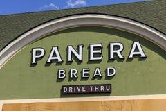 Indianapolis - Circa September 2017: De Kleinhandelsplaats van het Panerabrood Panera is een Ketting van Toevallige Restaurants d Royalty-vrije Stock Afbeelding