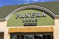 Indianapolis - Circa September 2017: De Kleinhandelsplaats van het Panerabrood Panera is een Ketting van Toevallige Restaurants d Royalty-vrije Stock Fotografie