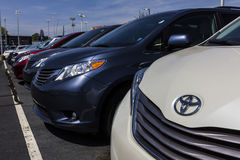 Indianapolis - Circa September 2017: Het lokale Toyota-Auto en SUV-Handel drijven VI Royalty-vrije Stock Fotografie