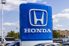 Indianapolis - Circa September 2017: Honda Motor Co. Logo and Sign VII. Honda Motor Co. Logo and Sign. Honda Manufactures Among the Most Reliable Cars in the Stock Photo