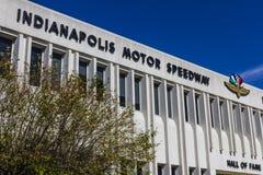 Indianapolis - Circa September 2016: Indianapolis Motor Speedway Hall av berömmelse som bygger VIII Royaltyfria Bilder