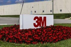 Indianapolis - Circa September 2016: 3M Plant, personlig en den säkerhetsuppdelningslätthet tillverkar utfrågningskydd III Royaltyfri Foto