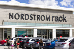 Indianapolis - Circa September 2016: Nordstrom Rack Strip Mall Location. Nordstrom is Known for its Service and Fashion IV stock photos