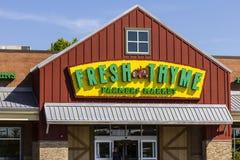 Indianapolis - Circa September 2016: Ny timjanbondemarknad Ny timjan erbjuder ny och sund mat på att förbluffa värdedropp Royaltyfria Foton