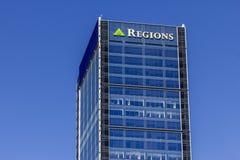 Indianapolis - Circa September 2016: Regions Financial Corporation Downtown Skyscraper IV Royalty Free Stock Photos