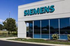 Indianapolis - Circa September 2016: Siemens byggnadsteknologier Siemens använder ungefärligt 362.000 personer över hela världen  Arkivbild