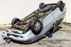 Indianapolis - Circa September 2016: Totaled SUV Automobile After Drunk Driving Accident I Stock Photography