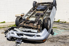 Indianapolis - Circa September 2016: Totaled SUV Automobile After Drunk Driving Accident II Royalty Free Stock Photography