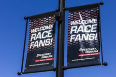 Indianapolis - Circa September 2016: Welcome Race Fans Sign in Speedway, Indiana II Royalty Free Stock Images