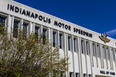 Indianapolis - circa settembre 2016: Hall of fame di Indianapolis Motor Speedway che costruisce VIII immagini stock libere da diritti
