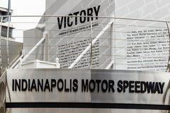 Indianapolis - circa settembre 2018: Victory Circle a Indianapolis Motor Speedway L'IMS è domestico al Indy 500 fotografia stock
