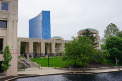 Indianapolis city canal and government center Stock Photography