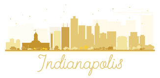 Indianapolis City skyline golden silhouette. Royalty Free Stock Photo